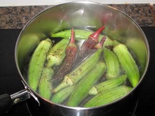 Boiling Okra