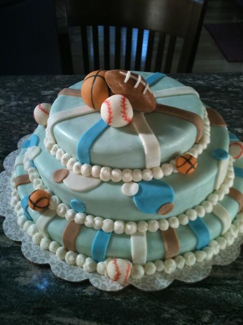 sports theme baby shower cake flickr photo sharing