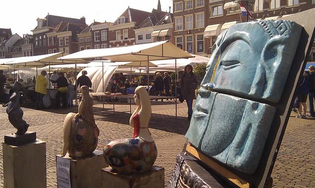op de Keramiekmarkt in Delft