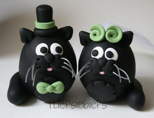 black cats wedding cake toppers black cats wedding cake topper a photo on flickriver 11858