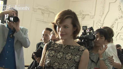 ANNA SHERBININA Milla Jovovich @ Jean Paul Gaultier Front Row, Paris Couture Fashion Week Fall 2011