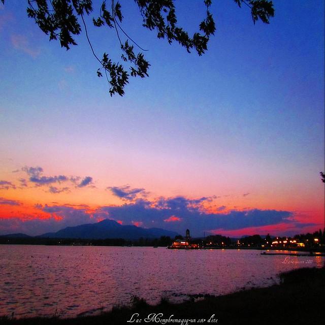 Lac Memphrémagog - un soir d'été