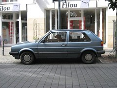 automobile, supermini, vehicle, volkswagen golf mk1, volkswagen golf mk2, city car, land vehicle, hatchback,