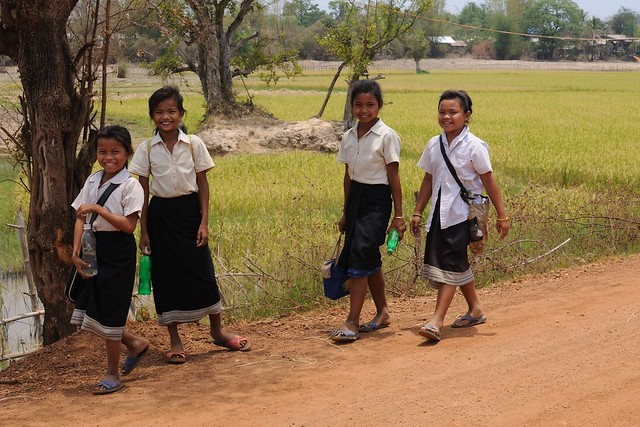 Sourires, Lac Nong Lom, Savannakhet, Laos
