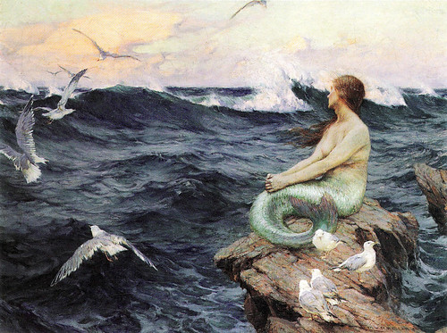 "Charles Murray Padday (British, 1868–1954), ""A Mermaid"""