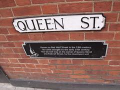 Photo of Queen Street, Norwich black plaque