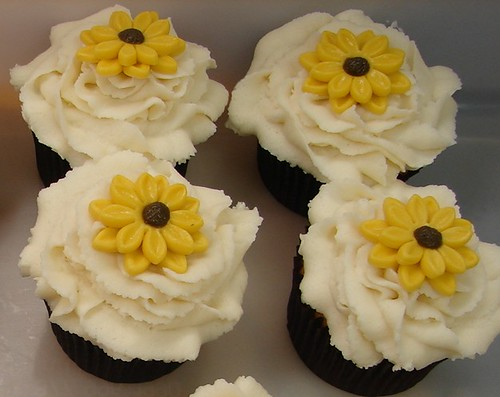 Summer Bouquet Wedding Cupcakes by JMC Custom Cakes