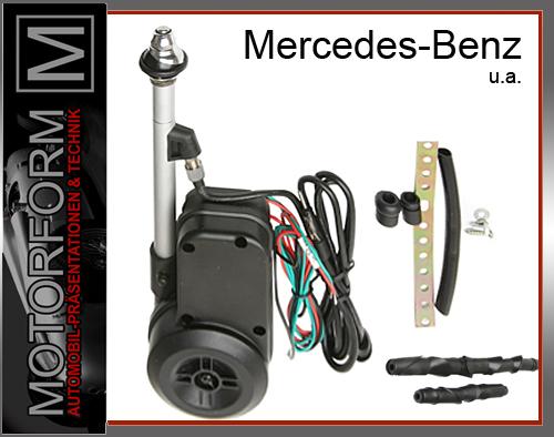 Mercedes sl r107 w107 vollautomatische antenne chrom ebay for Mercedes benz antenna cap