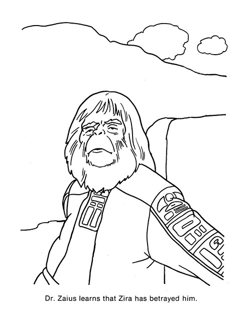 Planet of the Apes Coloring Book 0200052