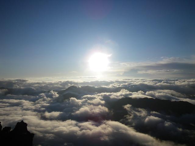 槍ヶ岳山頂から朝日 @5:29am