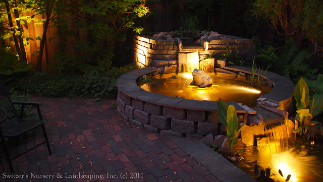 Minnesota landscape design inspired by bali natural for Koi pond underwater lighting