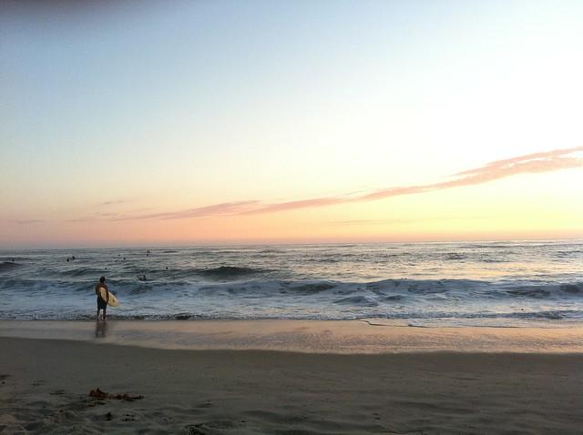 Surfer destined for Sunset