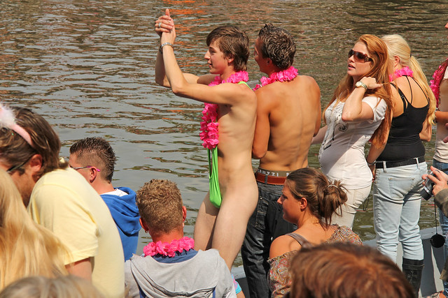 very young dutch boys swimming in the nude