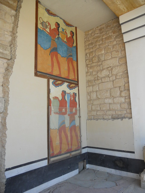 Crete Colours - The Palace of Knossos - Corridor of the Procession - Detail