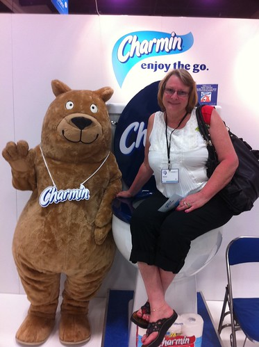 photo op with the Charmin Bear