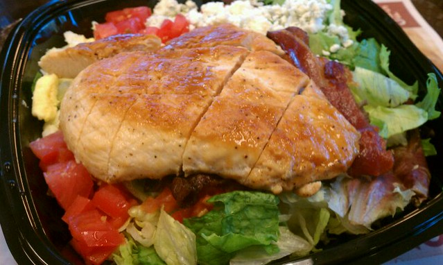 BLT Cobb Salad @ Wendy's | Greens, bacon, grilled chicken, c ...