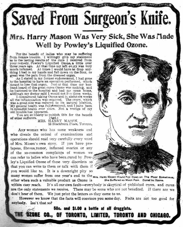 Vintage Ad #1,653: Mrs. Harry Mason was Saved From Surgeon's Knife