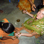 Audrey Gets Mehndi (Henna) Decoration on Hands - Hatiandha, Bangladesh