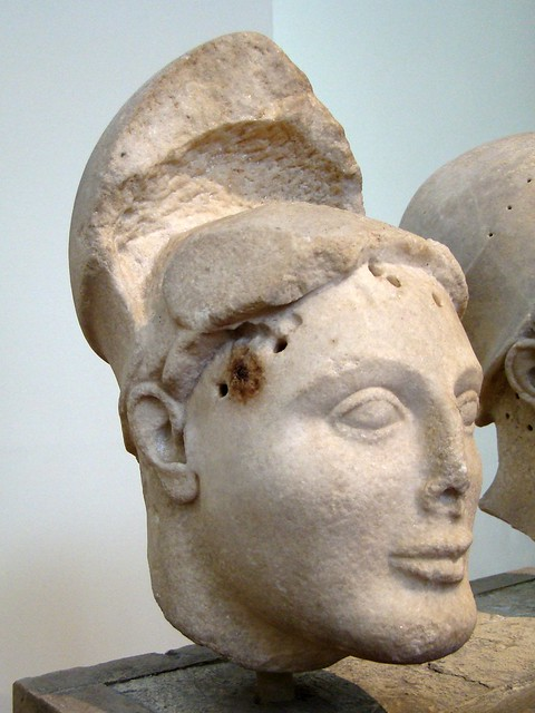 head of helmeted warrior, from Aegina