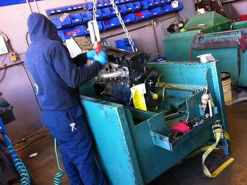 Junkyard testing engine compression