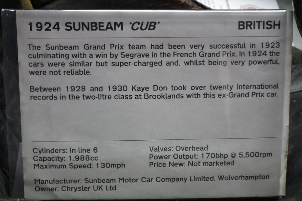 1924 Sunbeam Cub