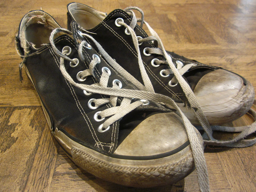 Old converse sneakers