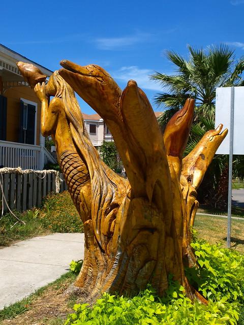 Dolphins mermaid galveston tree sculpture flickr