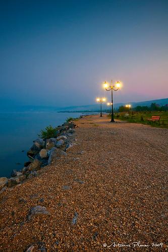 dawn doubleexposure shoreline romania caras dri danube banat rasarit dunarea tarm moldovaveche nikond300