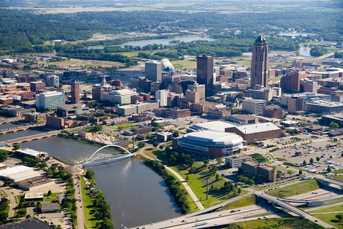 Des Moines Aerial - Looking South