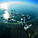 Parachuting Formation Skydiving 4way
