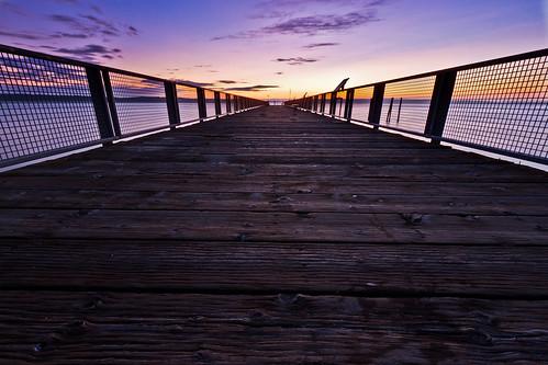 ocean sunset summer seascape night landscape pier washington dock pacific northwest dusk july clear pacificnorthwest pugetsound stanwood snohomish kayakpoint snohomishcounty camanoisland