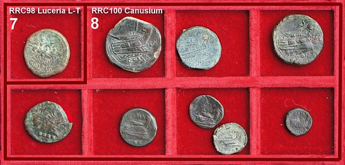 x Canusium and Luceria L-T Roman Republican struck Bronzes, Second Punic War Period