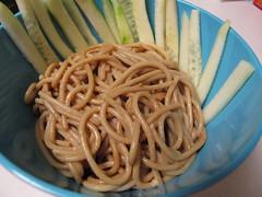 noodle(1.0), bucatini(1.0), spaghetti(1.0), produce(1.0), pici(1.0), food(1.0), dish(1.0), cuisine(1.0), udon(1.0), soba(1.0),