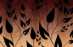 Climbing Vines Wallpapers in Glossy Brown by BackgroundsEtc