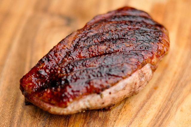 Spice Rubbed Grilled Duck Breast
