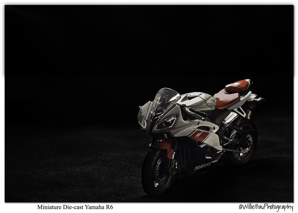 miniature die cast yamha r6 bike digital grin photography forum. Black Bedroom Furniture Sets. Home Design Ideas