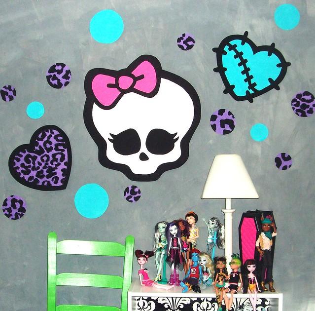 Monster High Themed Bedroom: Monster High Doll Wallpaper Art Sricker Mural Handmade