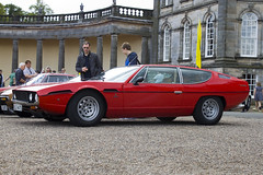 race car, automobile, vehicle, lamborghini espada, performance car, antique car, classic car, land vehicle, coupã©, sports car,