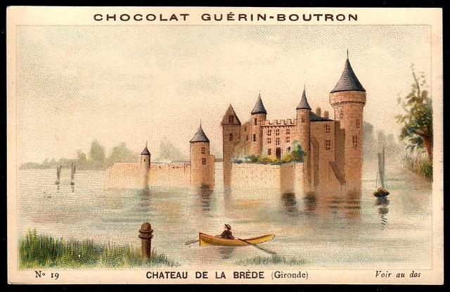 French Tradecard - Chateau de la Brede