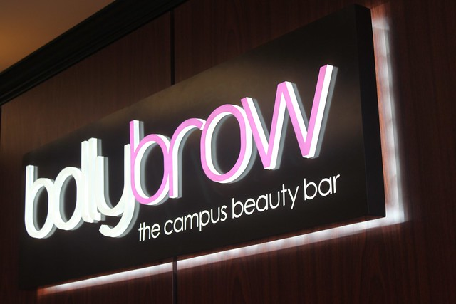 Metal Panel Sign With Illuminated Push Thru Acrylic Letter