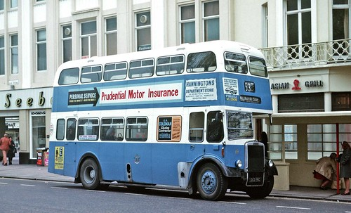 Brighton Corporation:19 DCD19C 1965 Leyland PD2/37 Weymann H61R on Old Steine