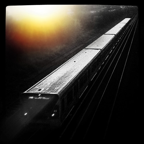 sunset shadow blackandwhite sun sunlight berlin monochrome train sunrise dark movement traintracks tracks zug iphone züge bahngleise schwarzweis