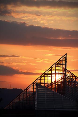 sunset usa chattanooga glass silhouette america canon aquarium tn tennessee tennesseeaquarium canon50d virginiabaileyphotography