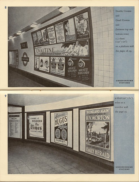 London Transport advertising rate card booklet, 1939