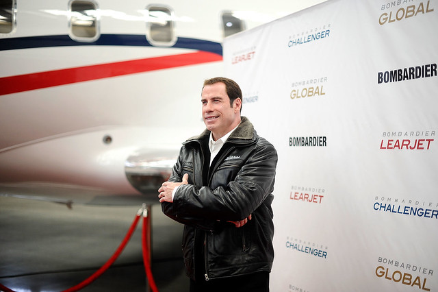John Travolta Joins Bombardier Team