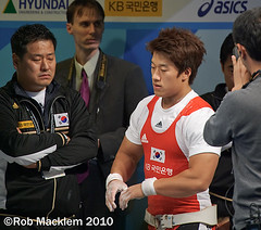 Sa Jae-hyouk KOR 77kg assault on a world record at 2009 World Championships