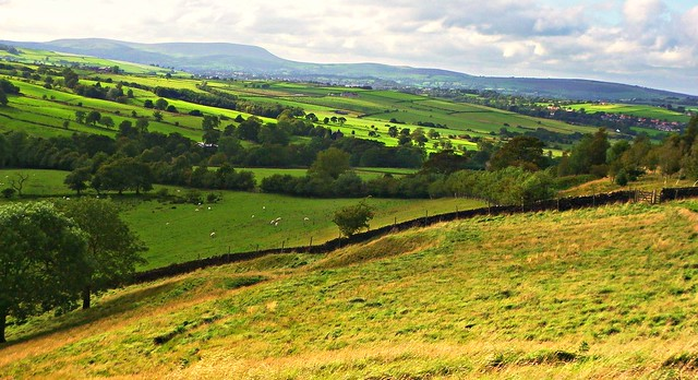 Pendle Hill in the distance