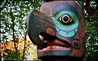 Totempfahl der Tlingit-Indianer