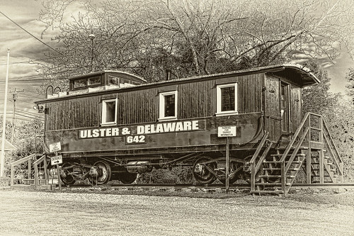 Kingston N.Y - Ulster & Delaware Caboose 04
