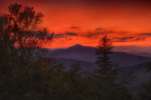 sunset nature landscape twilight sundown dusk northcarolina hdr mtpisgah coldmountain photomatix tonemapped